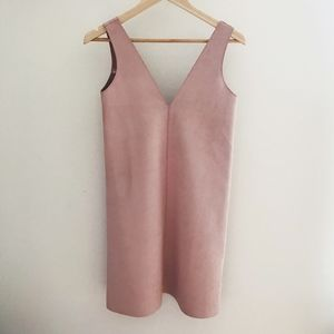 Zara Faux Suede Pink Dress